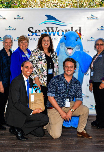 Goodwill leadership with Seaworld dolphin