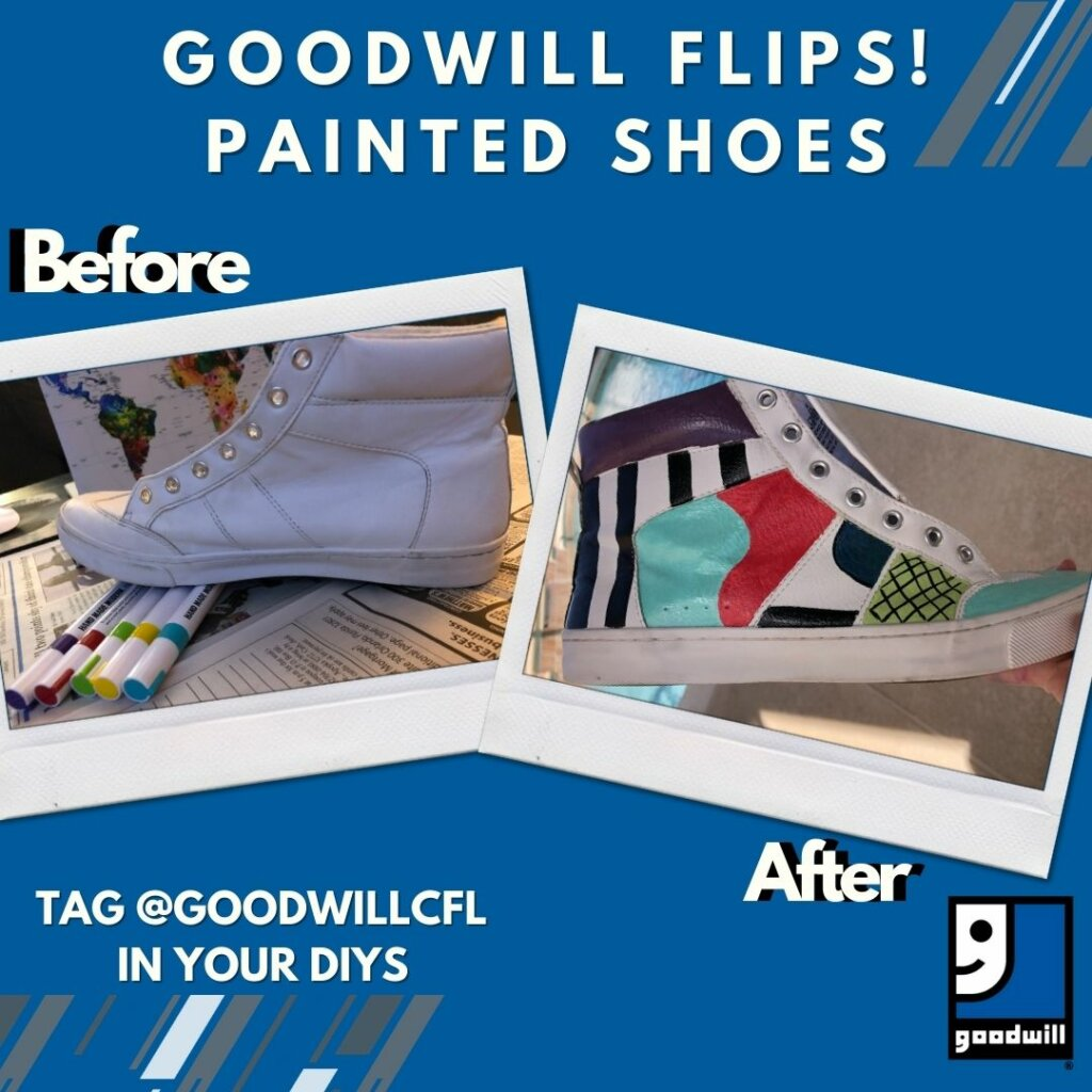 Goodwill Flips: Painted Shoes