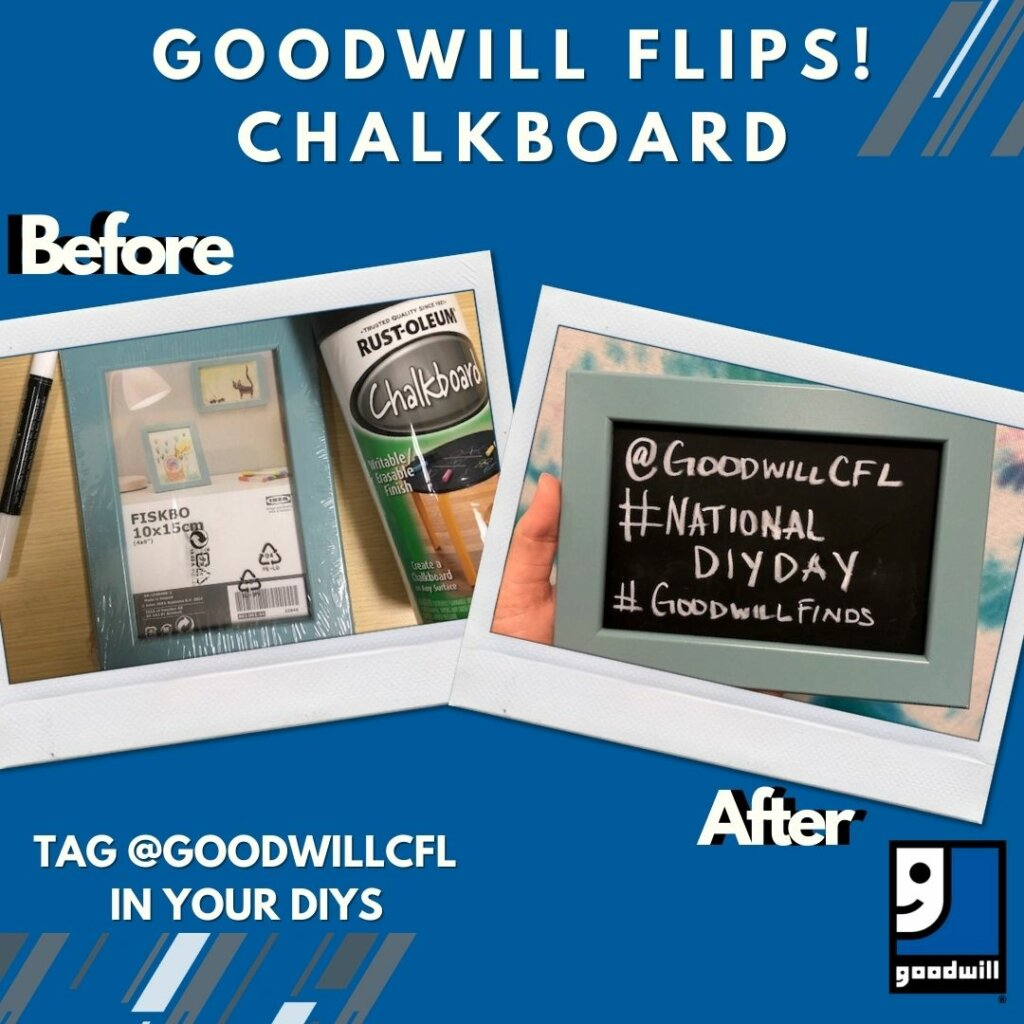Goodwill Flips: Create Your Own Chalkboard