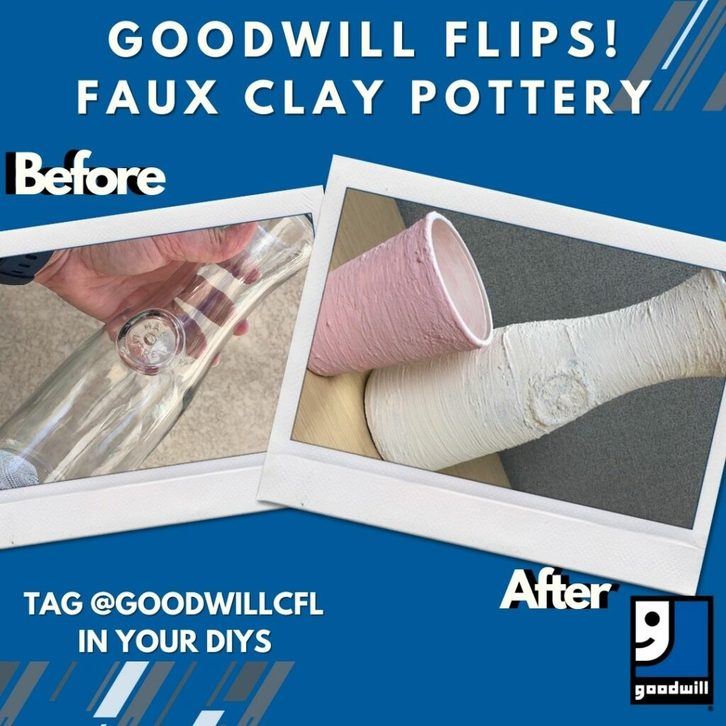 Goodwill Flips: Faux Clay Pottery